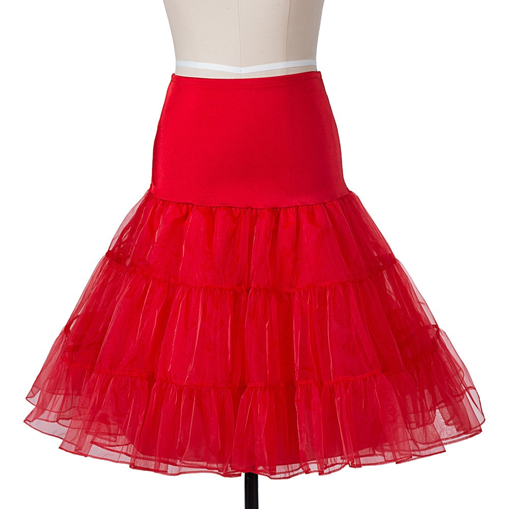 14 Färg Petticoat Kvinna 3 Layer Girls Underskirt Tutu Crinoline - Bröllopstillbehör - Foto 4