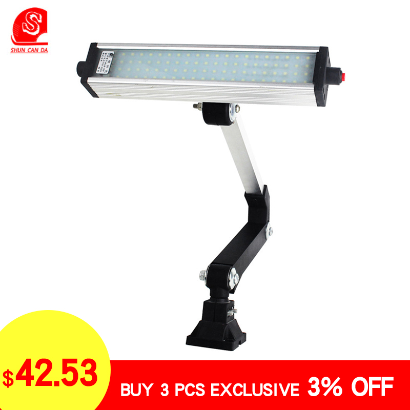 4W-24W  Led Machine Light Long Foldable Work Light Waterproof Explosion-Proof Super Bright For CNC Punch Bench Drilling Machine