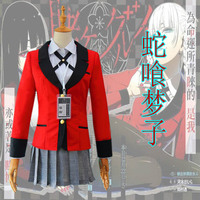 Anime Kakegurui Cosplay Costume Jabami Yumeko / Momobami Kirari / Ikishima Midari Japanese High School Uniform Custom Made