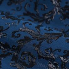 totem gold thread polyester cotton linen jacquard brocade fashion plush fabric for dress coat telas tissus au metre tissu tela