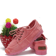 2016 new  spring&summer beijing style cotton-made canvas shoes flat casual lover women men shoes