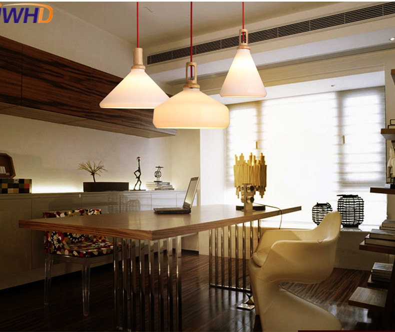 IWHD Led Hanging Lights Modern Creative Glass Pendant Light Fixtures Home Lighting Kitchen Lights Luminaire Suspended Lamp iwhd modern luminaire suspendu iron led pendant light fixtures dining kitchen hanging lamp home lighting creative design lamp