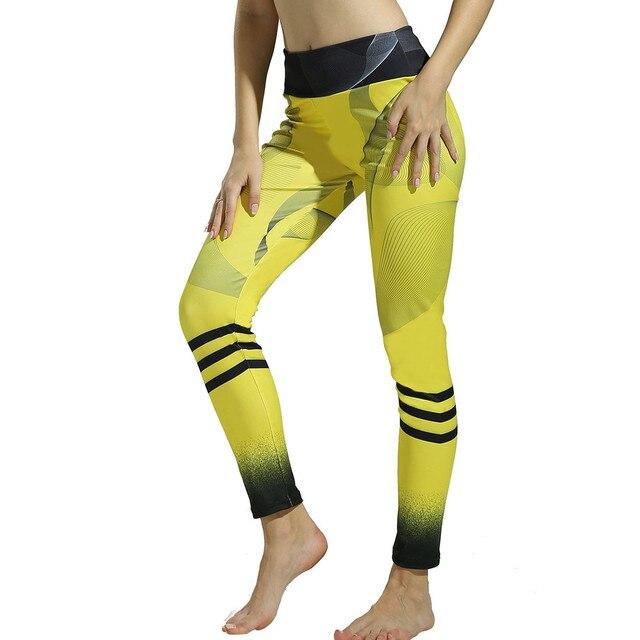 Klv Yoga Pants Of Women Sport Pants Print Yoga Leggings For Fitness Gym Workout Lounge Athletic Sportswear Woman Gym