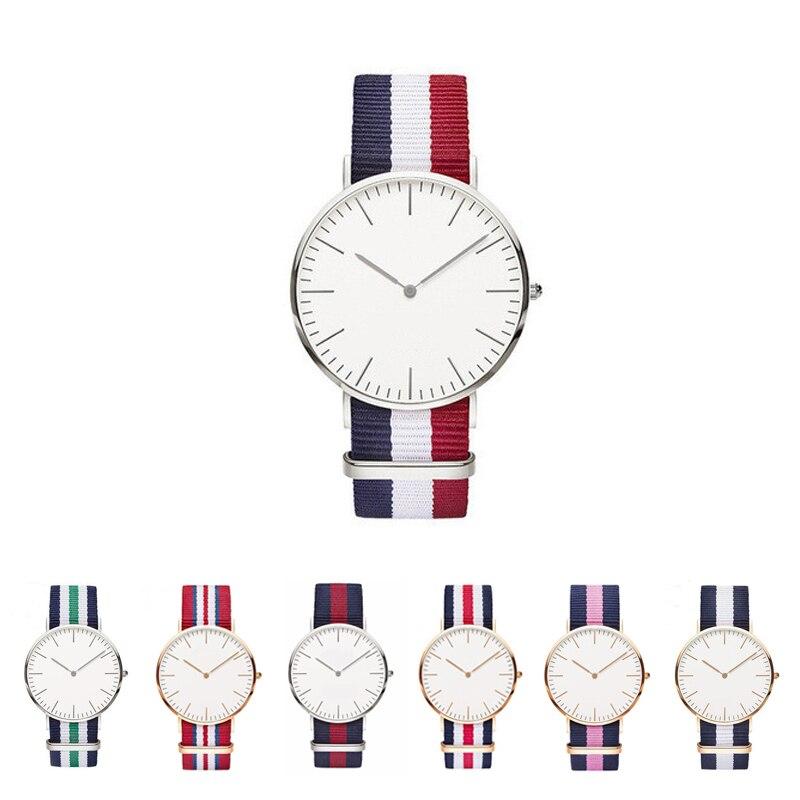 Fashion Unisex Geneva Super Thin Platimum Nylon Fabric Watch Sports Casual Clock For Men Women WristWatches Relojes Mujer 2018