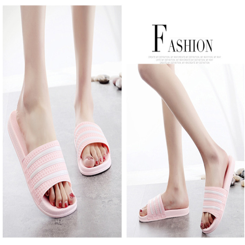 Teen Boys Girls Sandals Shoes Teenage Kids Summer Slippers Man Woman Beach Bath Shoes Home Slippers Casual Stripped PVC Shoes 22