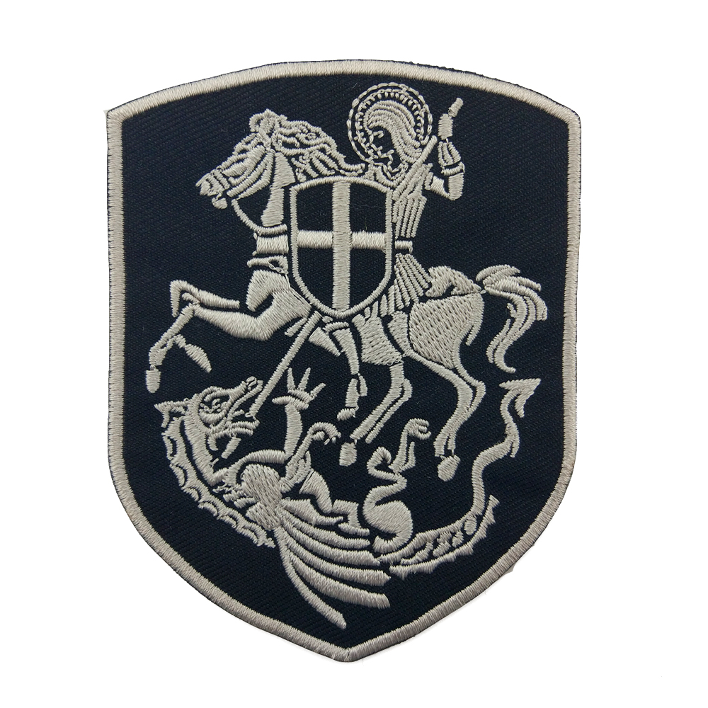 Diy Handmade Embroidered Patch: Embroidered Badge Black Knight Patch Mini Logo Black