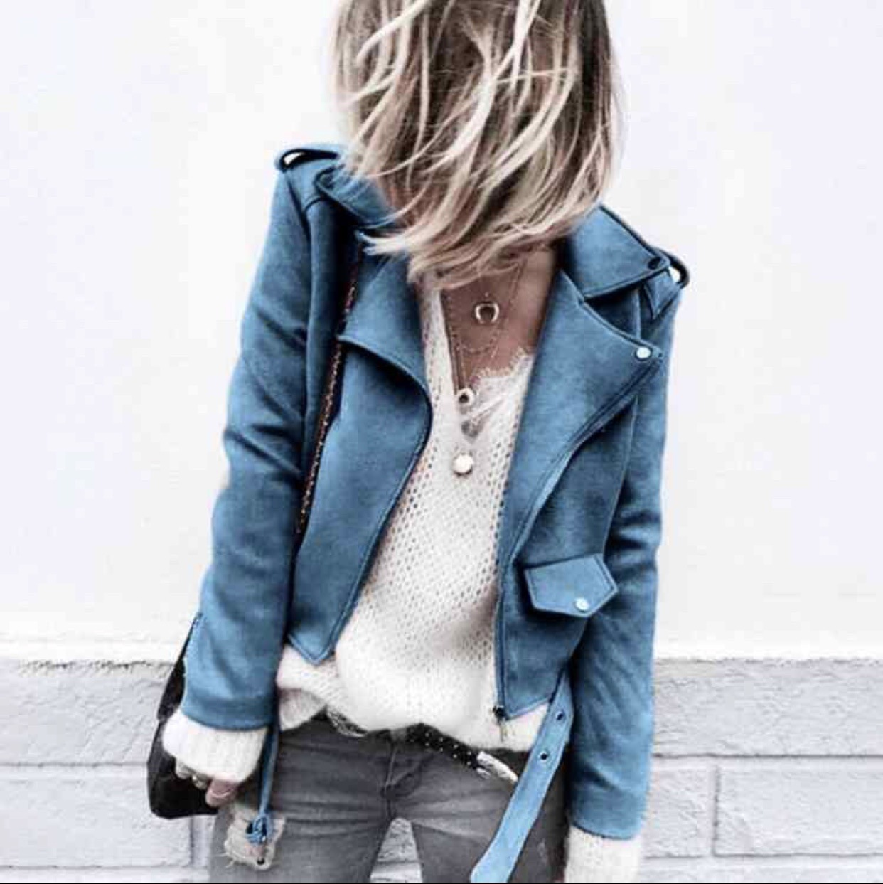 Autumn Women Jacket Casual Streetwear Long-sleeved Suede Leather Tops Coat New Bomber Jacket Winter Short Clothing Plus Size 5XL