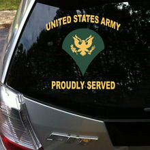 Aliauto Car styling United States Army Proudly Served Car Sticker &decal Accessories for Volkswagen Golf Polo Audi A3 Ford Focus