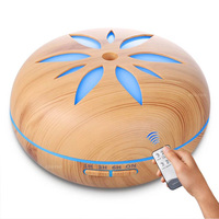 550ml Ultrasonic Humidifier Aroma Essential Oil Diffuser Wood Grain Cool Mist Humidifier Aromatherapy Diffuser With 7