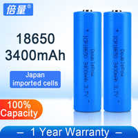Doublepow 18650 3400mAh Rechargeable Battery For Flashlight Loudspeaker  Radio Fan etc High Quality Lithium ion Batteries