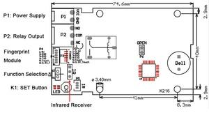 Image 2 - K216 Vingerafdruk Control Board En R501 Vingerafdruk Module