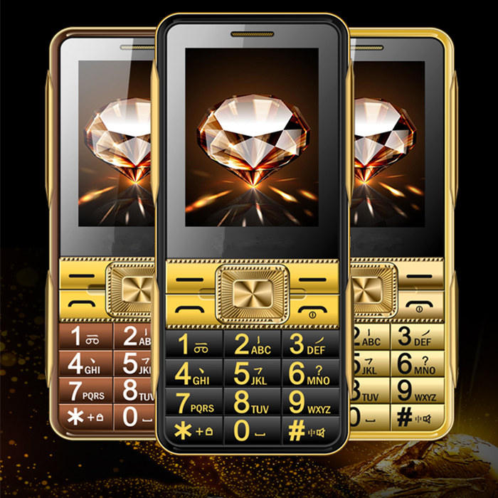 Super Fort Sound Dual SIM GSM Senior Mobile Téléphone V2 2.6 ''Écran Tactile Grande Police Vieux Personnes Téléphone H-mobile V2