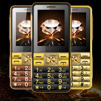 Super Loud Sound Dual SIM GSM Senior Mobile Phone V2 2.6'' Touch Screen Large Font Old Man People Phone H mobile V2