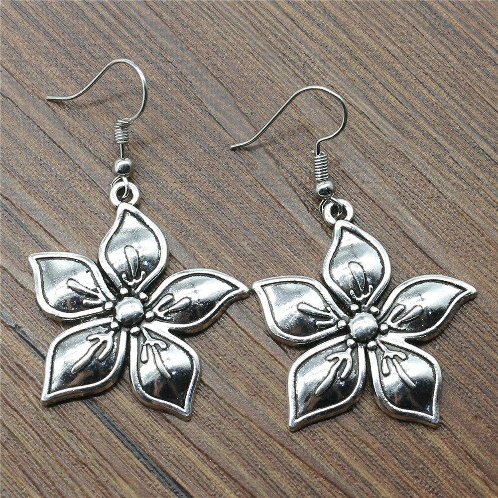 Dangle Earrings New Earring 33x31mm Flowers Earrings Women Vintage Jewelry Gift For Women
