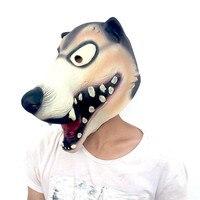 Lateks Straszne Wilk Języka Maska Przerażające Halloween Party Całą Twarz Maski Maskarada Rekwizyty Nakrycia Głowy Zabawki Dekoracje Dostaw