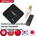 Evpad Pro Versión de Ultramar Con 8 Core frecuencia Daul Wifi 16G 4 K Incorporado 1000 + TV en vivo con Airmouse Bluetooth para el regalo libre