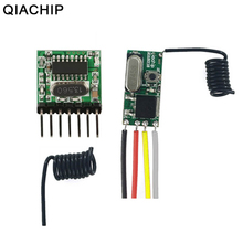 QIACHIP Wireless Remote Control Light Switch DC 12V 24V Led Lighting Power Switch 433Mhz RF Receiver Module  4 CH RF Transmitter qiachip wireless lights switch kit 3ch 433mhz rf remote control light switch and receiver module touch home wall light panel set