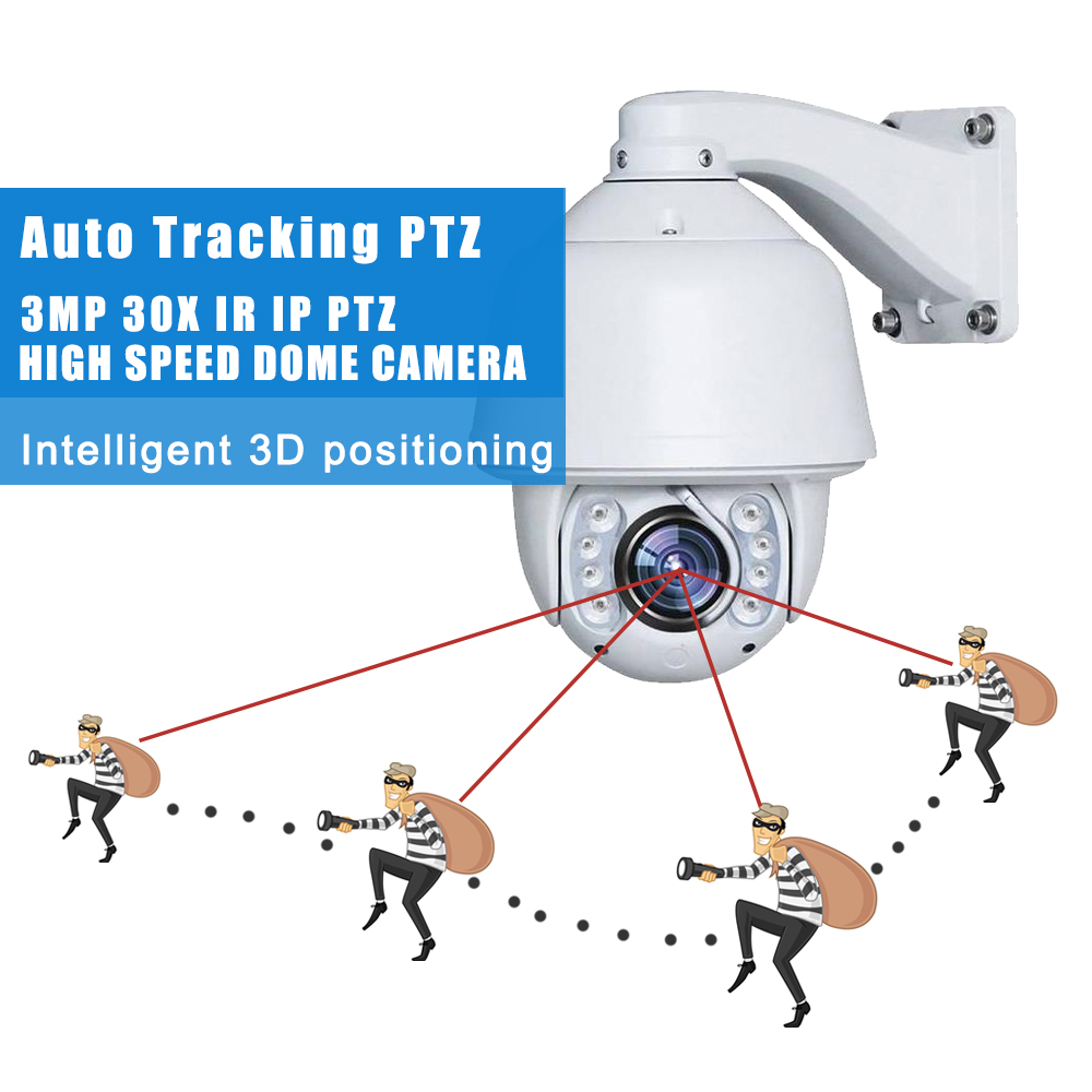 Full HD 2MP 3MP Auto tracking IP PTZ 20x 30x optical zoom outdoor Built-in wiper P2P onvif IR Netwrok high speed dome camera onvif hd 2 0mp 20x optical zoom 100m ir distance 1080p ptz cctv wired camera speed dome camera with auto wiper