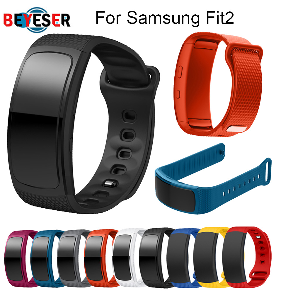 Replacement Wristband For Samsung Gear Fit 2 Pro Band Luxury Silicone Watchband For Samsung Fit 2 Smart Bracelet Strap Watc Band