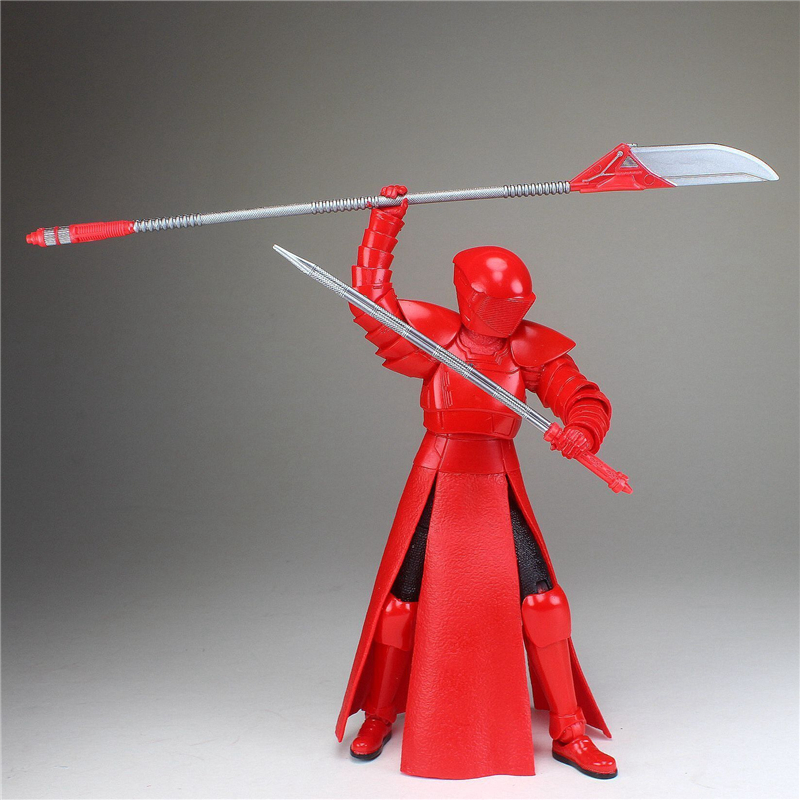Collection Edition 6 Star Wars VIII The Last Jedi Black Series Elite Praetorian Guard Heavy Blade Action Figure Children gift the white guard