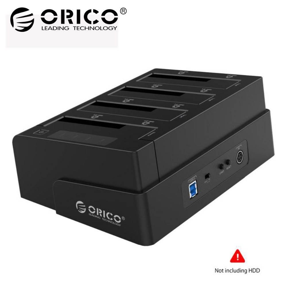 ORICO USB 3.0 to SATA 4 Bay External HDD Docking Station For 2.5 3.5 Inch HDD SSD 4 bay Hard Drive Case Cloner Function orico 8618sus3 usb3 0 to e sata external hdd hard drive ssd docking station for 2 5 3 5 inch sata hdd ssd support 8tb drive