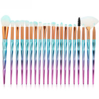 Professional 20Pcs Kit Diomand Makeup Brushes Set Powder Eye Shadow Foundation Blush Lip Cosmetic Beauty Soft