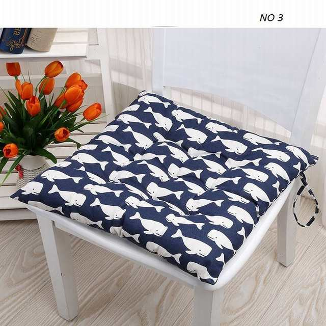 Groovy Us 7 06 17 Off Pastoral Floral Cartoon Printed Modern Linen Bubble Pad Kitchen Office Chair Cushions Dining Floor Seat Cushion Mat 40X40Cm In Ibusinesslaw Wood Chair Design Ideas Ibusinesslaworg