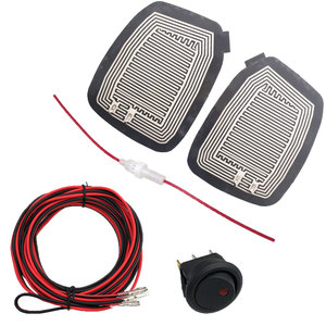 Image 1 - Universal DC 12V  Car Wing Mirror Heated Pad Quick Warm Heated mirrors Defogger Remove Ice\Rain\Frost Safe Driving