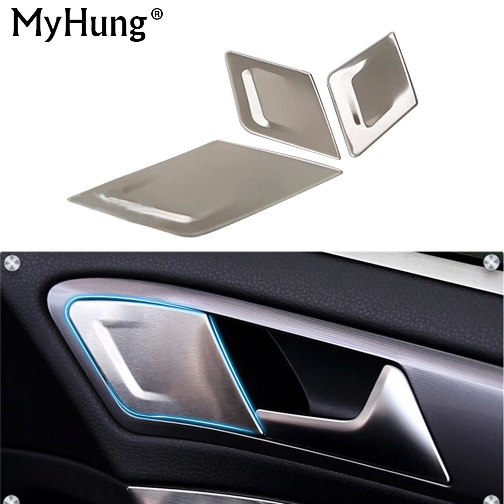For Volkswagen <font><b>VW</b></font> <font><b>Golf</b></font> <font><b>7</b></font> MK7 2014 2015 2016 Stainless Steel Trim Car Interior Doors Handle <font><b>Sticker</b></font> Accessories 3 Pcs Per Set image
