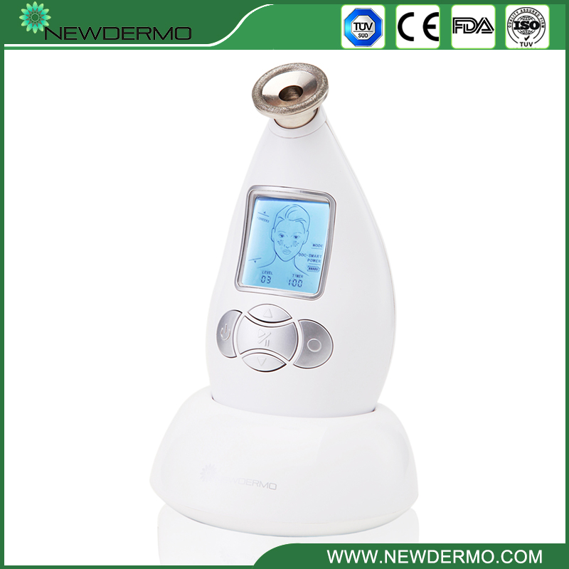 Blanc NEWDERMO diamant cristal Microdermabrasion Machine peau Dermobrasion soins du visage Massage Spa livraison gratuite