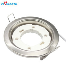 gx53 lamp base white silvery stainlness steel body gx53 lamp holder with 10cm wire fix gx53 led bulb