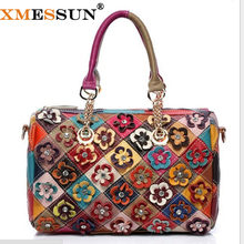 XMESSUN Brand 100% Genuine Leather Bag Designer Handbags High Quality Skin Leather  Shoulder Bag Women Messenger Bags Tote B86 dbe30ae768f90