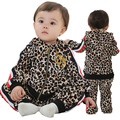 Anlencool Free shipping 2017 baby clothing set new European and American fashion leopard paragraph Tong Edition baby clothing