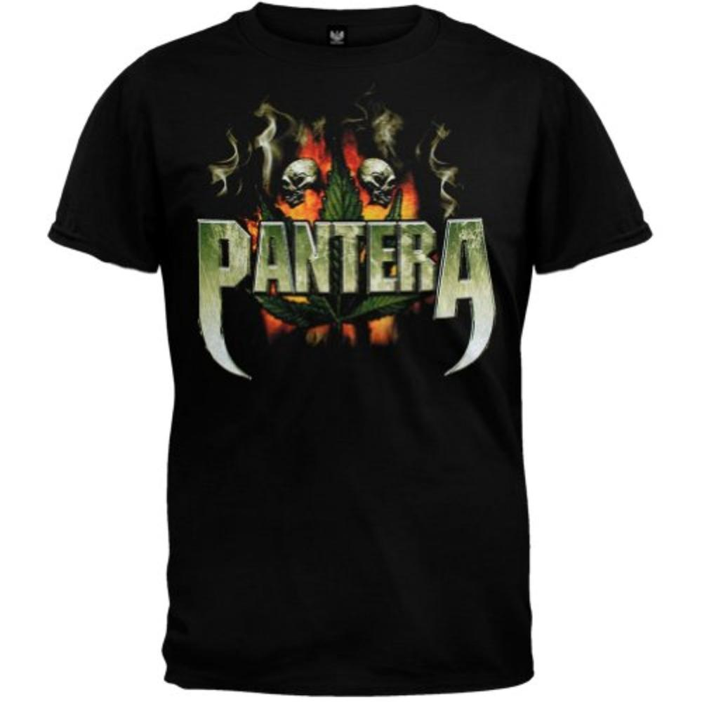 Fashion design men t shirt cool pantera skull leaf t for Coole t shirt sprüche