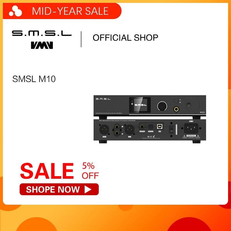 Equilibrada amplificador de auscultadores SMSL M10 AK4497 Chip Full & Suporte DSD512 PCM768kHz DAC USB Decodificador Digital De Amplificador de Potência