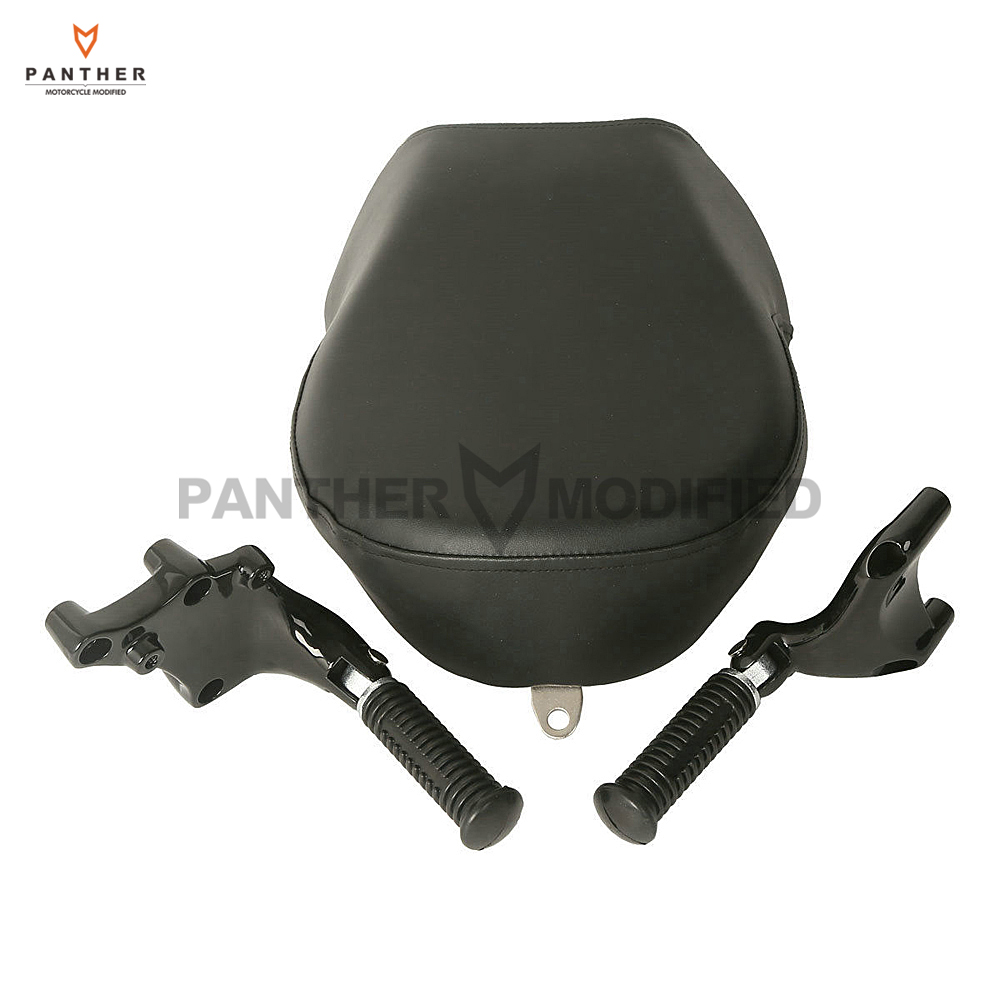 Motorcycle Rear Passenger Seat Covers Footpeg Foot Rest Mount Set case for Harley Sportster XL 883 1200 2014-2015