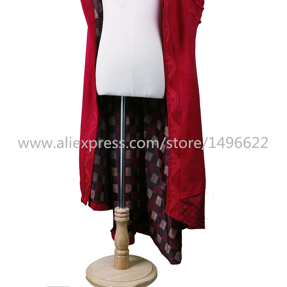 Cos Marvel Movie Doctor Strange Costume Cosplay Steve Red Cloak Kids Costume Robe Halloween Costume Party (6)
