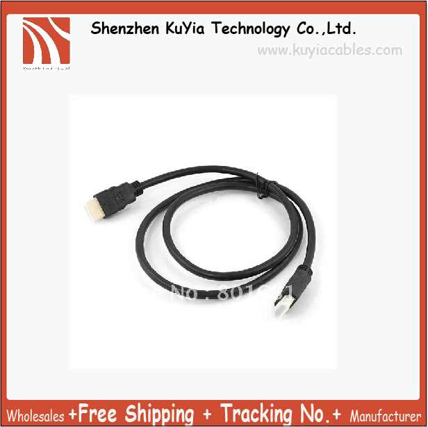 US $4 39 |KUYiA Premium 3FT 1 3 Gold HDMI Cable For PS3 HDTV 1080p Free  Shipping Drop Shipping Tracking number-in Data Cables from Consumer