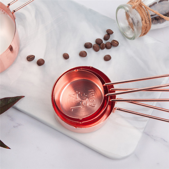 Rose Gold Stainless Steel Measuring Spoons