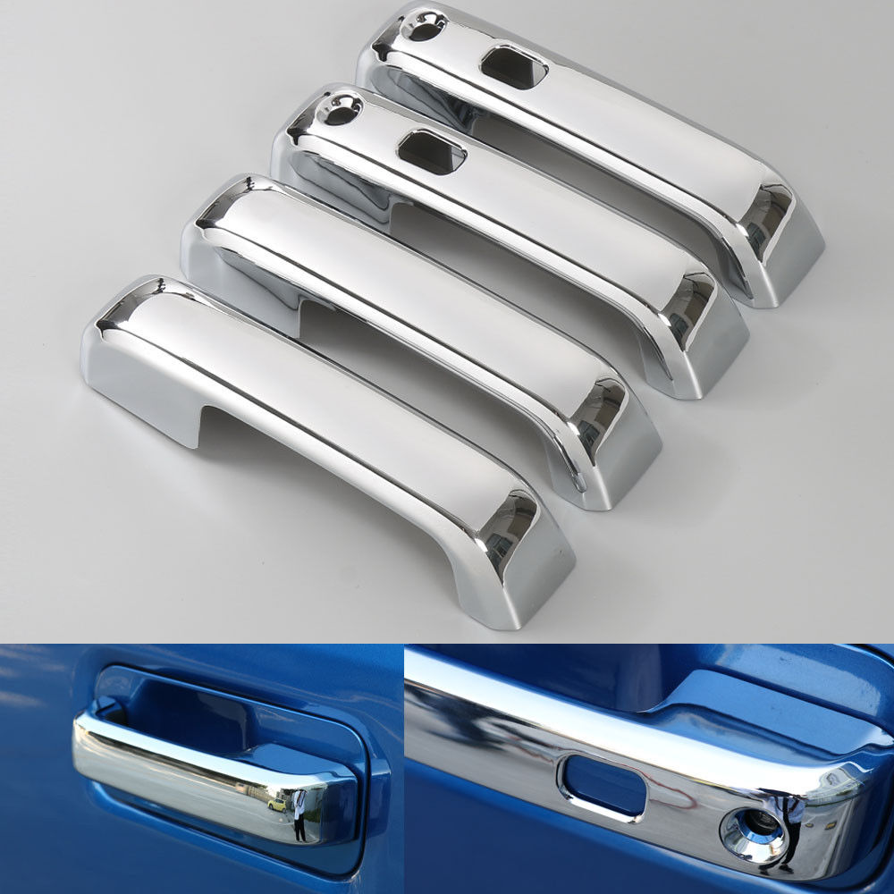 Chrome Door Handle Bowl Cover Trim fits 2015-2019 Ford F150 F-150 4dr SuperCrew
