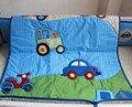 3 peças lovely baby crib bedding set bonito tráfego carros bebê bedding set lençóis de berço kit ropa de cuna cuna bumper berco