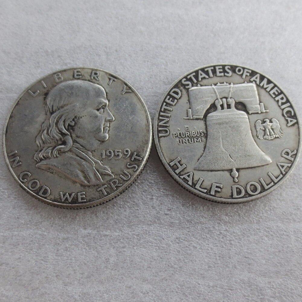 90% серебра или посеребренные 1959 P S D Франклин серебро полдоллара высокое качество
