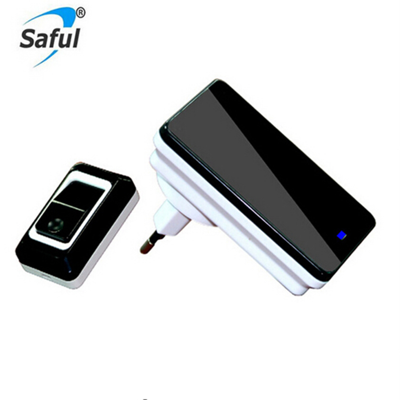 Saful Wireless Doorbell Waterproof Remote Control EU AU UK US Plug smart Doorbell Touch/Press Button Power Supply 110V-220V Bell wireless cordless digital doorbell remote door bell chime waterproof eu us uk au plug 110 220v