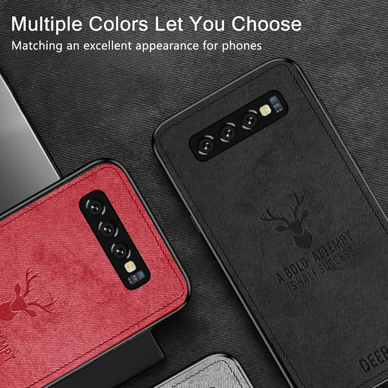 Hacrin Fabric Phone Case for Samsung S10 Case Cloth Texture Soft Back Cover Shockproof Case for Samsung Galaxy S10 S10 Case in Fitted Cases from Cellphones Telecommunications