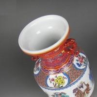 Jingdezhen porcelain enamel antique handicrafts set eight immortals antique vase with classical Ming and Qing Dynasties