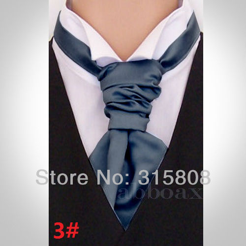 New Italian Mens Cravats Neckwear Satin Solid Color Ascots Gentleman Neckties Party Pre Tied Cravat Tie For Wedding In Ties Handkerchiefs From Men S