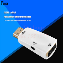 1080P Video & Audio Converter HDMI to VGA Adapter Converter with Audio Cable Digital to Analog PC Laptop TV Projector Splitter