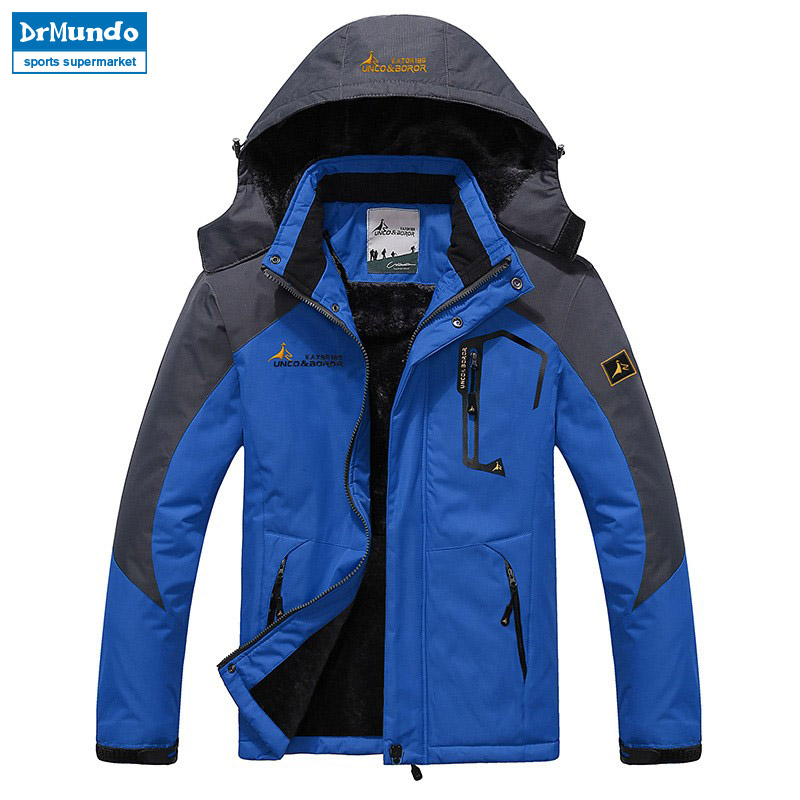Snow Jacket Mountain Fleece Skiing Waterproof Outdoor Plus-Size Men for Brand Thermal-Coat