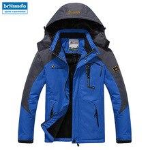 Лыжная куртка мужская водонепроницаемая флисовая зимняя куртка термо пальто для улицы Горные лыжи сноуборд куртка размера плюс бренд