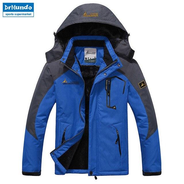 Мужская лыжная куртка водостойкий флисовый Снежный куртка с теплой подкладкой для наружного горного катания на лыжах сноуборд куртка плюс размер бренд